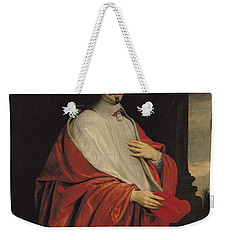 Portrait Of Jules Mazarin Weekender Tote Bag by Philippe de Champaigne