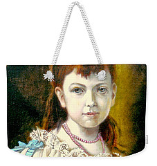 Portrait Of Little Girl Weekender Tote Bag