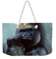 Portrait Of Male Gorilla Gorilla Gorilla Weekender Tote Bag
