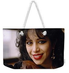 Portrait Of Ofra Haza Weekender Tote Bag by Shaun Higson