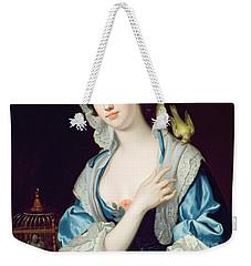 Portrait Of Peg Woffington Weekender Tote Bag by Jean-Baptiste van Loo