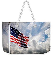 Portrait Of The United States Of America Flag Weekender Tote Bag