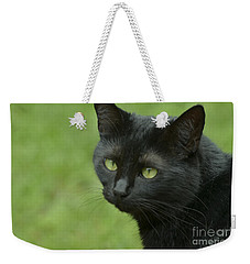 Portrait Of Satin Weekender Tote Bag