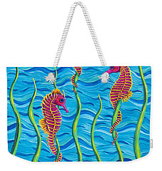Poseidon's Steed Painting Bomber Weekender Tote Bag