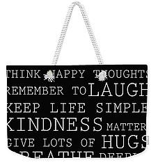 Positive Words Weekender Tote Bag by P S