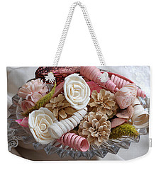 Potpourri In Pink And Cream Weekender Tote Bag by Connie Fox