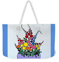 Potted Blooms - Lavendar Weekender Tote Bag