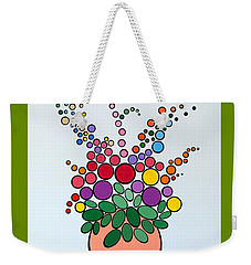 Potted Blooms - Orange Weekender Tote Bag