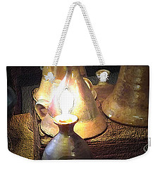 Pottery Oil Lamp  Weekender Tote Bag