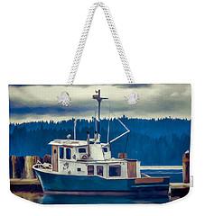 Poulsbo Waterfront 03 Weekender Tote Bag by Wally Hampton