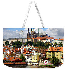 Weekender Tote Bag featuring the photograph Prague Skyline by Ira Shander