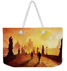 Prague Sunrise Weekender Tote Bag