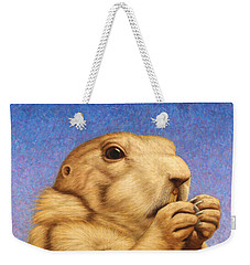 Prairie Dog Weekender Tote Bag by James W Johnson