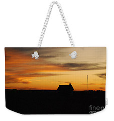 Weekender Tote Bag featuring the photograph Prairie Sunset by Mary Carol Story