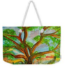 Prayer Mountain Tree Weekender Tote Bag