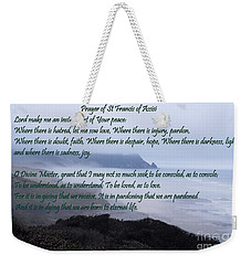Prayer Of St Francis Of Assisi Weekender Tote Bag