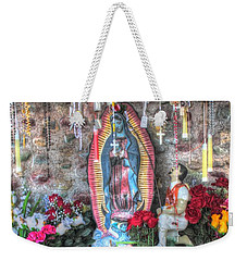 Prayers To Our Lady Of Guadalupe Weekender Tote Bag by Lanita Williams