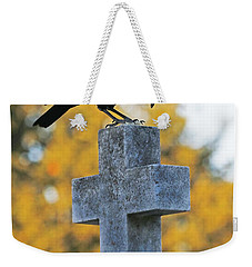 Praying Crow On Cross Weekender Tote Bag