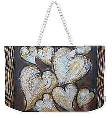Precious Hearts 301110 Weekender Tote Bag by Selena Boron