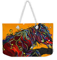 Weekender Tote Bag featuring the painting Prelude To A Dance by Alison Caltrider