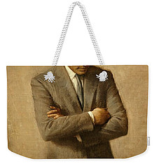 President John F. Kennedy Official Portrait By Aaron Shikler Weekender Tote Bag by Movie Poster Prints