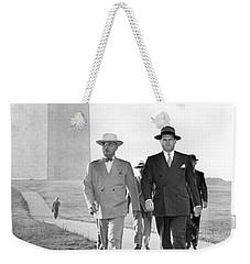 President Truman On A Walk Weekender Tote Bag by Underwood Archives