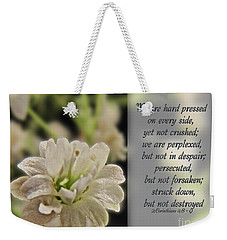 Pressed But Not Crushed Weekender Tote Bag by Debbie Portwood