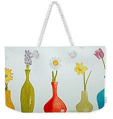 Pretty Flowers In A Row Weekender Tote Bag
