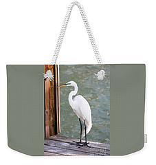 Pretty Great Egret Weekender Tote Bag