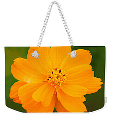 Weekender Tote Bag featuring the photograph Pretty In Orange by Mariarosa Rockefeller
