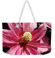 Weekender Tote Bag featuring the photograph Pretty In Pink by Cheryl Hoyle
