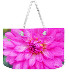 Pretty In Pink Dahlia Weekender Tote Bag