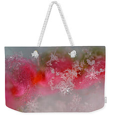 Weekender Tote Bag featuring the photograph Pretty Little Snowflakes by Lauren Radke