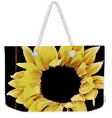Pretty Macro Sunflower Weekender Tote Bag