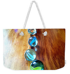 Pretty Marbles All In A Row Weekender Tote Bag