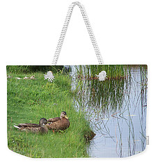 Mated Pair Of Ducks Weekender Tote Bag