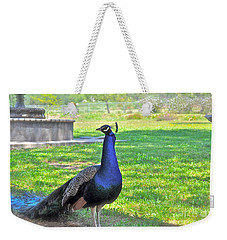 Pretty Peacock Weekender Tote Bag