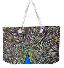 Pretty Peacock Weekender Tote Bag by P S