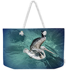 Weekender Tote Bag featuring the photograph Pretty Pelican by Pennie  McCracken