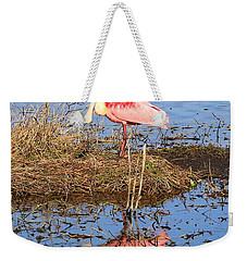 Pretty Spoonbill Weekender Tote Bag