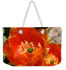 Prickly Pear In Bloom Weekender Tote Bag by Joe Kozlowski