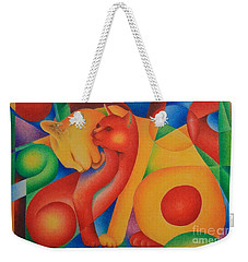 Primary Cats Weekender Tote Bag by Pamela Clements