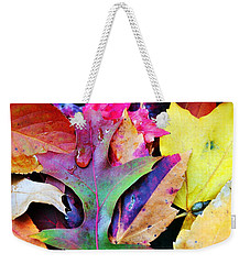 Weekender Tote Bag featuring the photograph Primary Colors Of Fall by Judy Palkimas