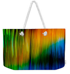 Primary Rainbow Weekender Tote Bag