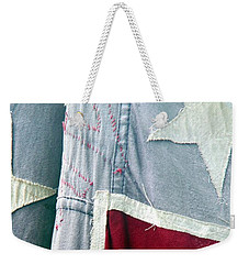 Primitive Flag Weekender Tote Bag by Valerie Reeves