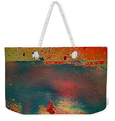 Weekender Tote Bag featuring the painting Primordial by Jacqueline McReynolds