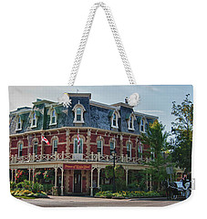Prince Of Wales Hotel 9000 Weekender Tote Bag by Guy Whiteley