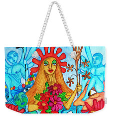 Weekender Tote Bag featuring the painting Princess Countrywoman. by Don Pedro De Gracia
