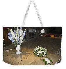 Weekender Tote Bag featuring the photograph Princess Grace Tomb by Allen Sheffield