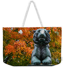Weekender Tote Bag featuring the photograph Princeton Panther by Glenn DiPaola